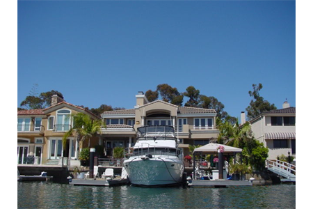 Newport beach bay homes