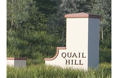 quail hill sign