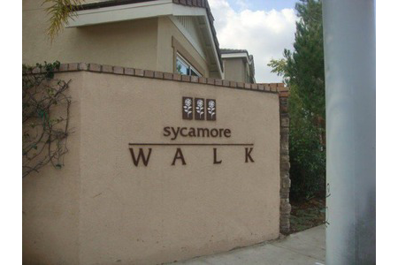 Sycamore walk garden grove sign