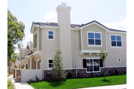 Belmont townhomes cypress exterior