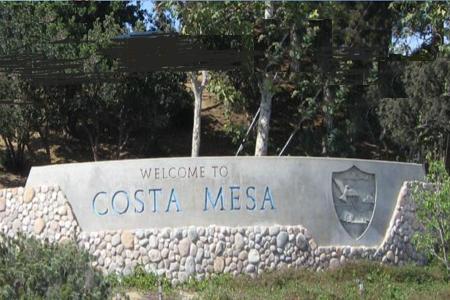 Costa mesa city sign