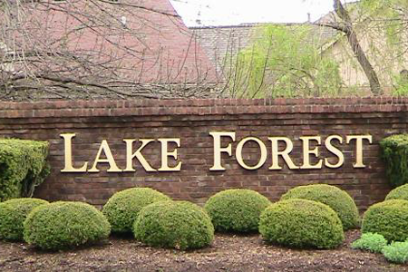 lake forest sign