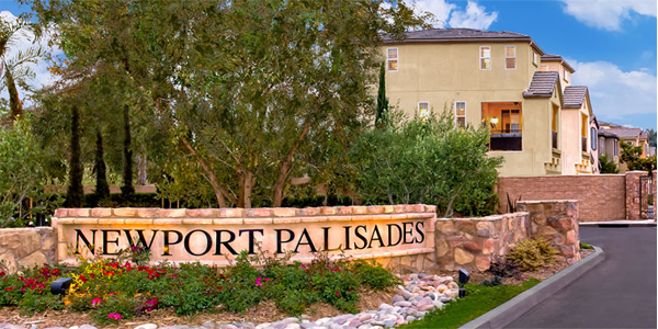 Newport Palisades Collection sign