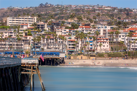 San Clemente view from pier