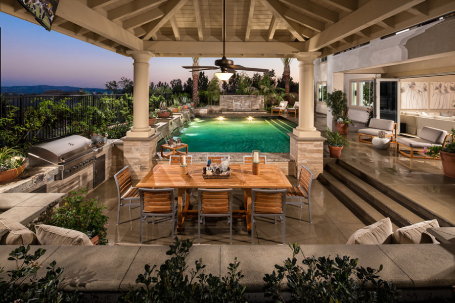Estates orange county real estate orange county real for Luxury outdoor living spaces